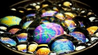 Micro ASMR Soap Bubbles Macro Video of Iridescent Soap Bubbles