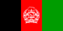 Flagge Afghanistans