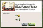Silver Factory Plaque