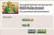 Gold Parks Award