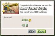 Silver Tycoon Trophy