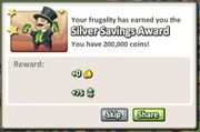 Silver Savings Award