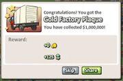 Gold Factory Plaque