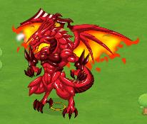 Dragón Bahamut Rojo
