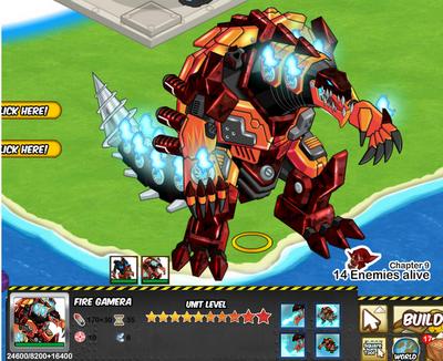 Social Wars strongest unit Fire Gamera