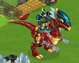 Dino Rider Elf Social Wars