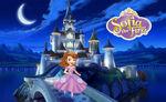 Sofia Castle In Night Poster