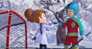 Lord of the Rink Hugo helps Sofia