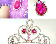 Sofia Pink Amulet And Tiara