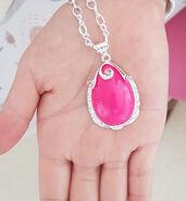 Pink Amulet Stone Necklace
