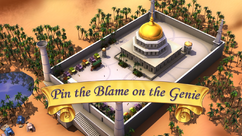 Pin the Blame on the Genie title card