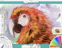 ArtRage Macaw Screen Capture