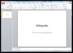 Microsoft PowerPoint 2010-Windows 7