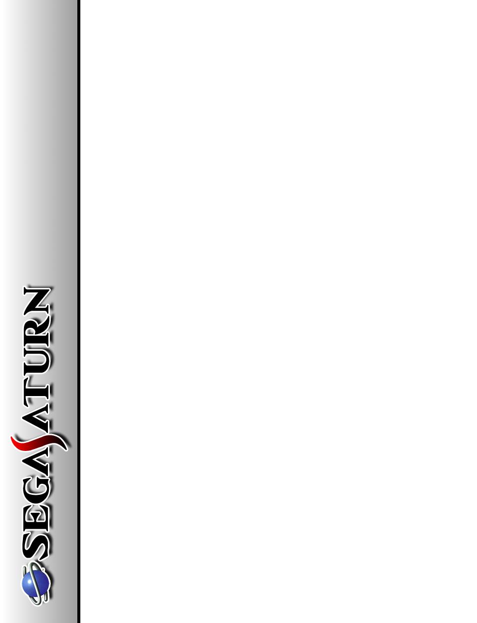 SEGA Saturn Template