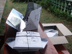Suncatcher folded open and boxed