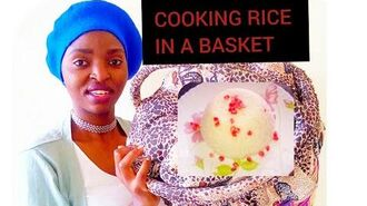 COOKING RICE IN A FIRELESS BASKET