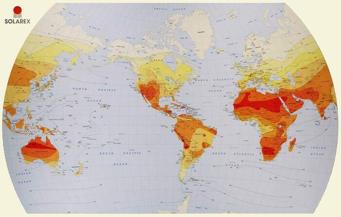 Solar radiation map - Solarex