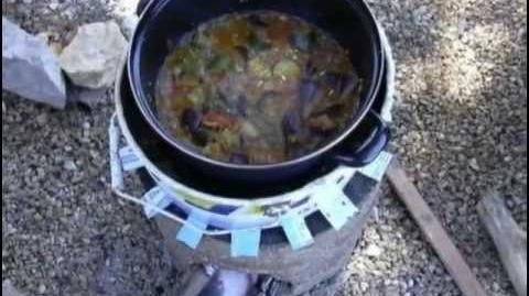 Rocket stove en vermex (vermiculite expansee)