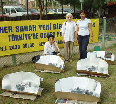 Solar cooking workshop in Turkey in 2002, 8-5-15