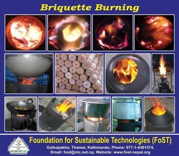 Briquettes burning - FoST 2019