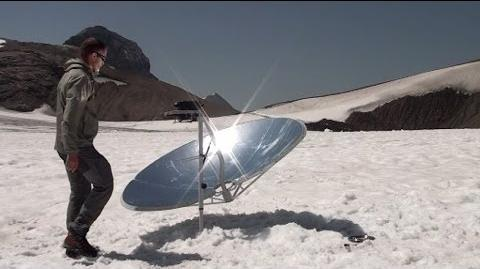 Cuiseur solaire SOLARIO COOKER à la montagne
