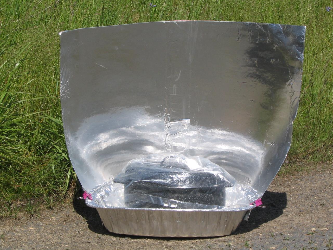 Aluminum Roasting Pan Solar Cooker Solar Cooking