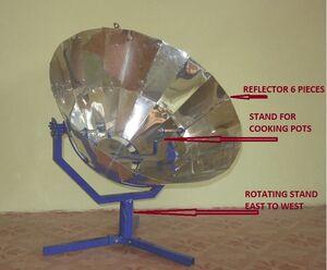 Parvati Solar Cooker improvements, 11-18-13