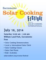 Solar Cooking festival poster, 4-27-14
