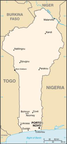 Map Benin