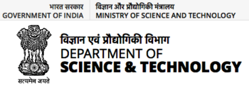 Dept Science & Tech, India logo, 10-9-18