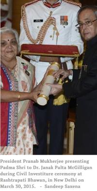 Janek McGilligan recievs Padma Shri award, 3-13-18