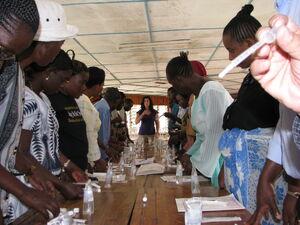 K training water testing