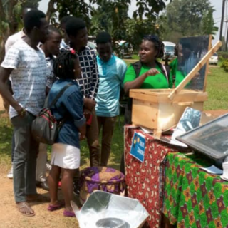 Solar cookers on display at Green Day.