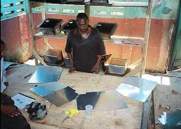 Sun Ovens International assembly in Haiti April 2008