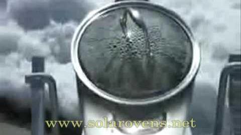 Giant Solar Parabolic Cooker - www.solarovens.net
