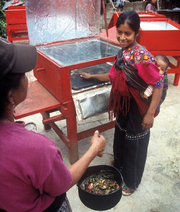 CASEP solar box oven user in Guatamala, 5-21-15
