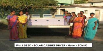 Solar cabinet dryer, India