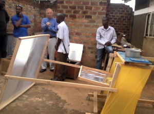 Heliac cooker at Disabled tech, Uganda, 4-27-17