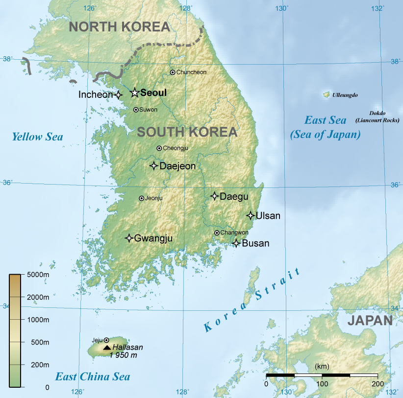 Image General Map Of South Koreapng Solar Cooking FANDOM - Map of south korea