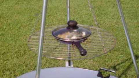 Making Popcorn on my Solar Grill
