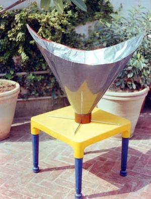 Khan's Backpack Solar Cooker, 10-7-15