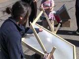 Navajo Student Fresnel Solar Cooker