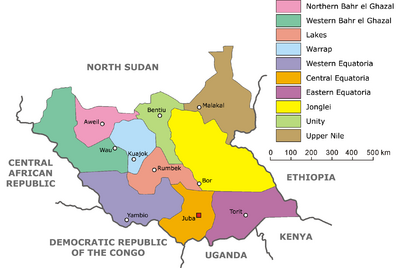 South Sudan-administrative map
