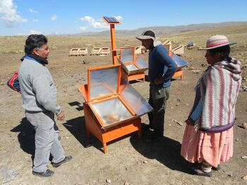 BISS adding photovoltaic to solar cooker - August 2015