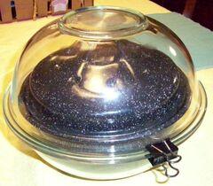 Double glass bowl enclosure 11-11