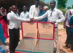 Solar cooker donation, The Gambia, 10-18-16