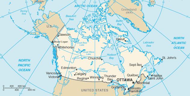 Canada Solar Cooking FANDOM Powered By Wikia - Canada mapa