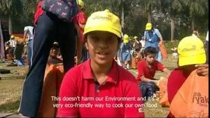 Children's reaction after Solar cooking for the first time @ SuryaKumbh