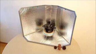 Cuiseur solaire à panneaux réfléchissants UltraLightCooker Traveller - Concept de Cuisson Solaire