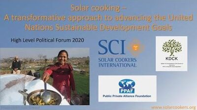 Solar cooking – A transformative approach for the SDGs